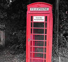 Old-Fashioned Red Telephone Box by Kay1eigh