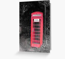 Old-Fashioned Red Telephone Box Greeting Card