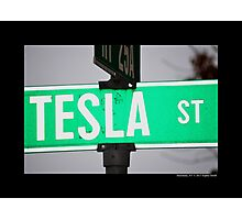 Nikola Tesla Street Sign - Shoreham, New York Photographic Print