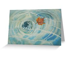 Floating Autumn Greeting Card