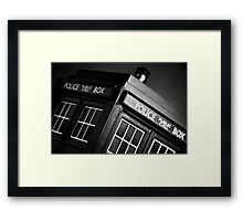 An Old Police Box. Framed Print