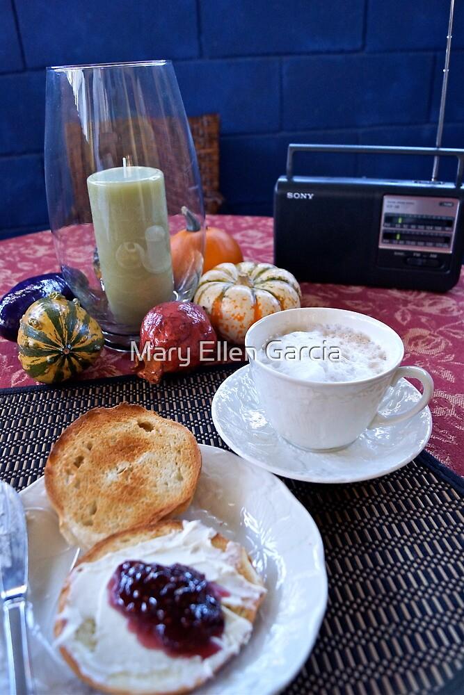 Sunday Morning Cuban Coffee & A Bagel! by Mary Ellen Garcia