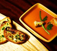 Tomato soup with Garlic bread. by Dipali S