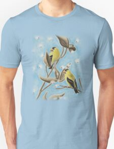 Goldfinch On Seed Pod T-Shirt