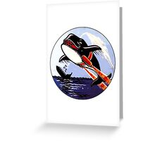 VP 49 Orcas WWII Crest Greeting Card