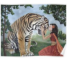 """Reverence"" Fantasy Tiger Art Poster"