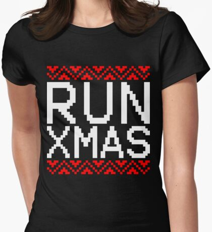 RUN XMAS Womens Fitted T-Shirt