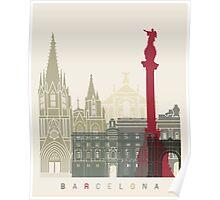 Barcelona skyline poster Poster