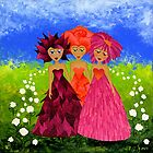 Flower Sisters by Lisa Frances Judd ~ Original Australian Art