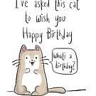 Cat birthday by twisteddoodles