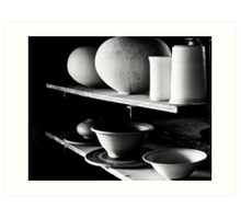 Pots in the Early Morning Light Art Print
