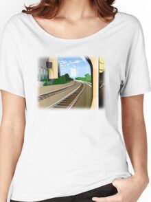 Rails to the Unknown  Women's Relaxed Fit T-Shirt