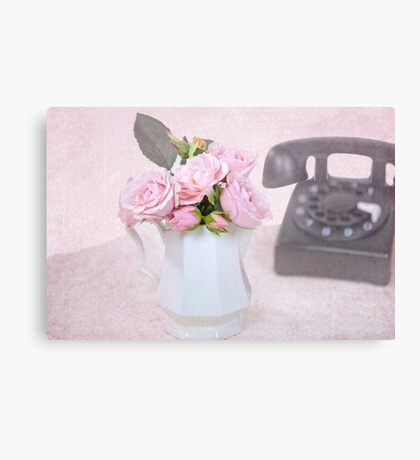 Retro Roses Canvas Print