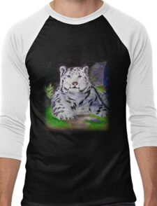Snow Leopard Men's Baseball ¾ T-Shirt