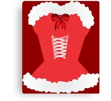 red santa corset christmas corset Mrs Claus Canvas Print