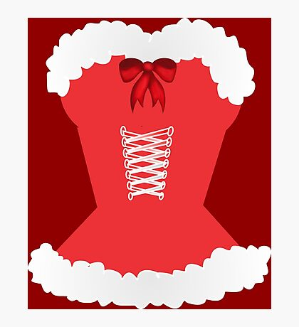 red santa corset christmas corset Mrs Claus Photographic Print