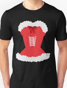 red santa corset christmas corset Mrs Claus Unisex T-Shirt