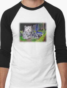 Snow Leopard Men's Baseball ¾ T-Shirt
