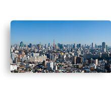 Tokyo downtown Canvas Print