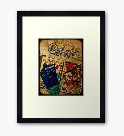 Doctor Who Travel Log  Framed Print