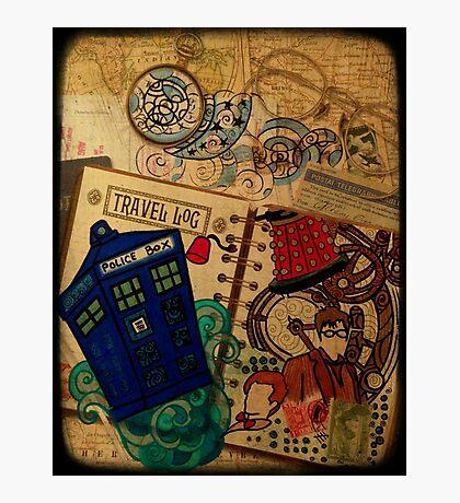 Doctor Who Travel Log  Photographic Print