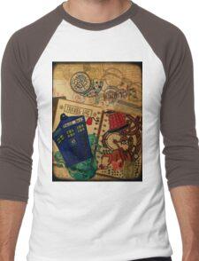 Doctor Who Travel Log  Men's Baseball ¾ T-Shirt