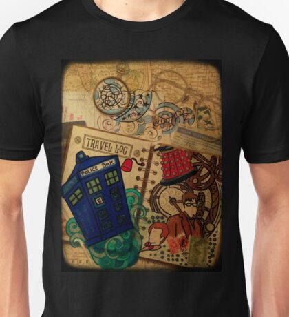 Doctor Who Travel Log  Unisex T-Shirt