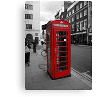 Red Telephone Kiosk Canvas Print