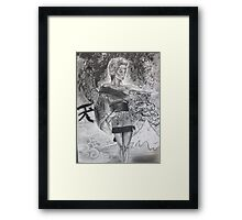 """Frost"" Geisha of Winter Framed Print"
