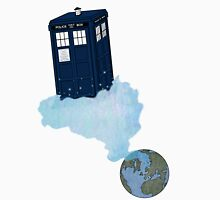 Tardis leaves Earth Unisex T-Shirt
