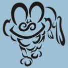 Froakie Tribal - Black by jewlecho