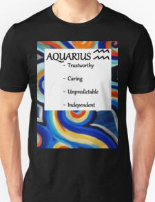 Abstract aquarius horoscope shirt T-Shirt