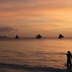 Surfer and Sails - Boracay by Harry Roma