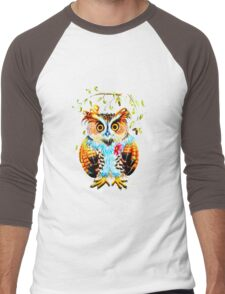 The most beautiful Owl Men's Baseball ¾ T-Shirt