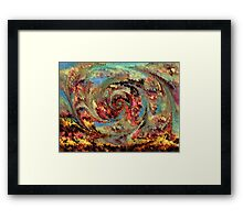 Volcanic eruption by rafi talby Framed Print