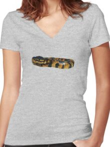 Ball Python Women's Fitted V-Neck T-Shirt