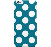 White dots on blue - retro style iPhone Case/Skin