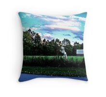 Danger In The Reeds Throw Pillow