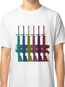 Multicolored AR-15s Classic T-Shirt