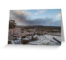 Snow on the overland Track Greeting Card