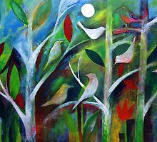 Birds at night by Karin Zeller