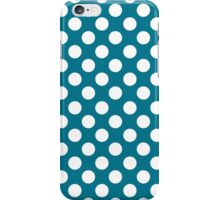 White dots on blue - retro style 2 iPhone Case/Skin