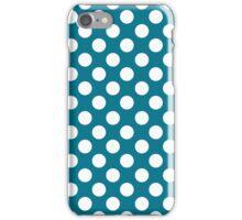 White dots on blue - retro style 2 iPhone Case/Skin