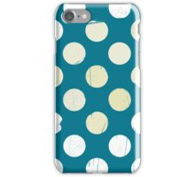 White dots on blue - retro style OLD iPhone Case/Skin