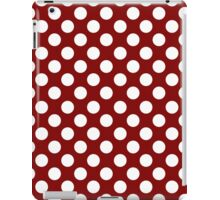 White dots on red - retro style iPad Case/Skin