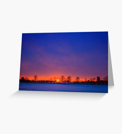 Horizon on Fire and Ice Greeting Card