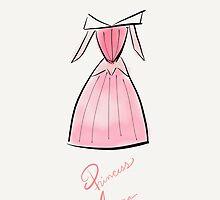 Princess Aurora Costume iPhone Case by Wfam21