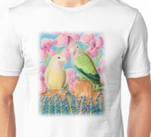 Peach-faced Lovebird Unisex T-Shirt