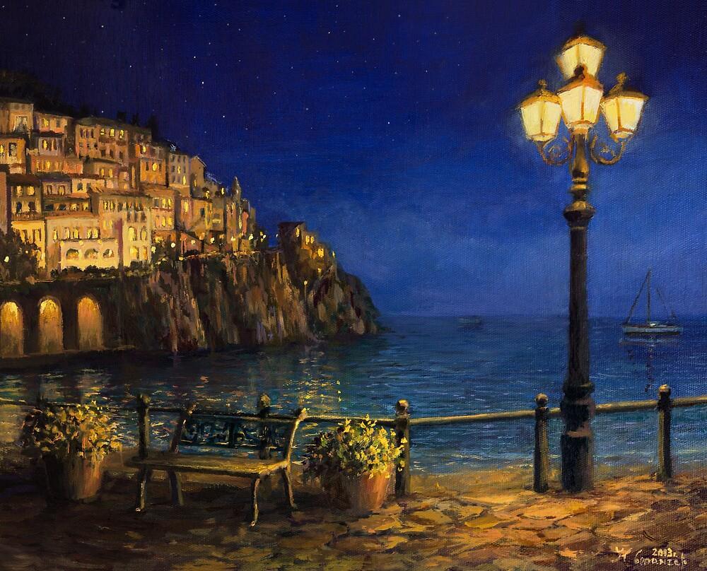 Summer Evening in Amalfi by kirilart
