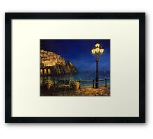 Summer Evening in Amalfi Framed Print